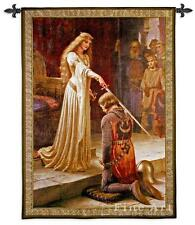 """Medieval Tapestry The Accolade Knight Pic Leighton - BS 52""""x71"""""""