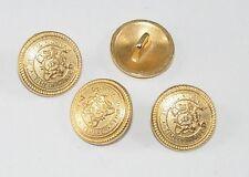 10 Metallknöpfe Knöpfe Wappenknöpfe 15,4mm gold  07.19/591