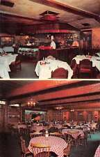 Oxnard California interior views Colonial House restaurant vintage pc Z25099