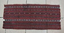 Fabulous Antique Turkoman Tekke Tribal Chuval Collector's Piece Panel Kilim Rug