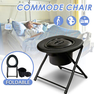 Adult Toilet Seat Pregnant Women Commode Potty Portable Folding Bedside Chair