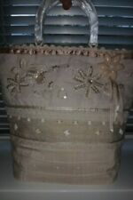 Monsoon Accessorize Gorgeous Ivory Beach Bag Beaded
