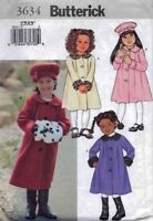 Child's Dressy Coat Hat Pattern 2-5 Butterick 3634 OOP