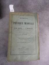 Gariel Desplats Eléments Physique médicale Monoyer ophtalmologie optique médecin