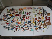 Mixed Playmobil Lot Furniture, Figures, Building Parts, Small Accessories ++