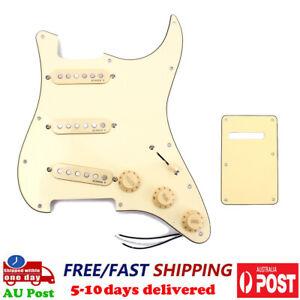 Alnico V SSS Guitar Pickguard Bridge Neck Middle Pickup Back Cover for ST Strat