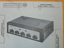 Harman-Kardon Trend Ii Amplifier A-1040 -  Howard Sams Photofacts