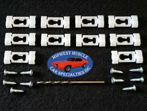 85-96 NOS Cadillac Fleetwood Rear Window Vinyl Top Trim Molding Clips 10pcs ZG