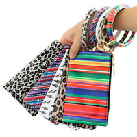 Key Ring&Phone Wallet PU Leather O Keychain Bracelet With Matching Wristlet Bag