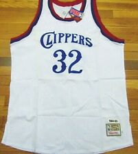 MITCHELL & NESS NBA THROWBACK LOS ANGELES CLIPPERS BILL WALTON WHITE JERSEY 56
