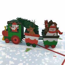 Santa's Christmas Train 3D pop up card