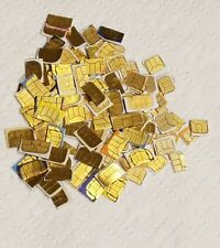 35 Used Sim Cards For Gold Recovery - Scrap Gold Only - T-Mobile At&T Verizon