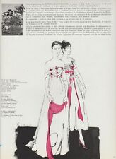 """Coupure de presse Le Bal """"April in Paris"""" Mode french press clipping 1956"""