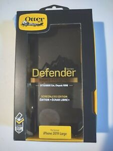 Apple iPhone 2019 Large Otterbox Defender Series Case Black Hard Case Belt Clip