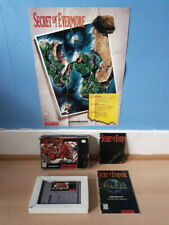 Secret of Evermore SNES Complete NTSC inc Rare Map & Poster