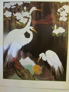 "Art Print - ""Egrets"" by Jesse Arms Botke - Lithograph (36 x 28)  #40F"