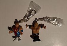WWE Kurt Angle & Triple H Rare Keychains FREE US Shipping HHH Toy Fair Exclusive