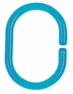 Spirella C-Minor Anelli per Tenda Doccia 12 Pezzo Clear Acqua Blu Swiss Design