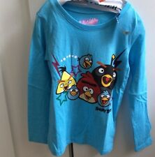 ANGRY BIRDS T Shirt OLD NAVY ~ Light. Blue ~ Kids Small (6-7) MSRP $14.94
