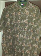 Vintage Men's Tommy Hilfiger Short Sleeve Button Down Retro Shirt- Sz XL/Green