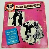 Mouskedances Walt Disney's Mickey Mouse Club 45rpm Disneyland Record #652 1975