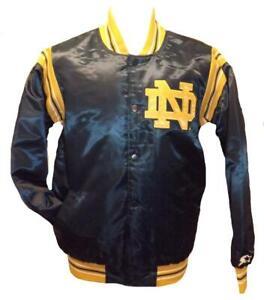New Notre Dame Fighting Irish Mens S-M-L-XL-2XL-3XL-4XL Starter Satin Jacket