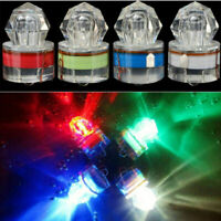 LED Underwater Deep Drop Diamond Flashing Fishing Light Squid Strobe Bait Lure