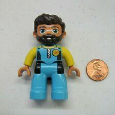 LEGO DUPLO Brown Hair SCUBA DIVER MAN in Suit w// BEARD FIGURE Rare
