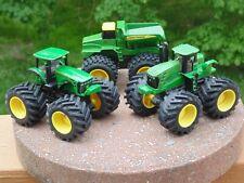 """John Deere lot of 3 - Monster Treads Dump Truck and Tractor 5"""" monster trucks"""