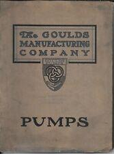 New listing Seneca Falls N.Y. The Goulds Mfg. 1912 Industrial Pumps Catalog