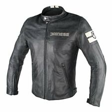 Hf D1 Leather Jacket - Dainese Nero/ghiaccio 52