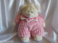 Doudou ours rose et blanc Althans Club
