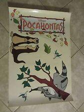 POCAHONTAS movie poster -  original Vinyl Window Cling # 1