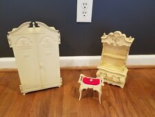 Vintage Barbie Suzy Goose Furniture Wardrobe & Bench
