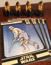 Huge Lot of 4 Aqualish Spy Star Wars Miniatures 49/60 Game Figures
