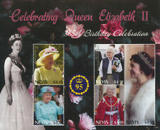 More details for nevis 2021 mnh royalty stamps queen elizabeth ii 95th birthday anniv 5v m/s