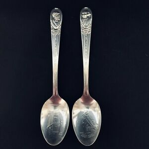2 Vintage WM Rogers MFG. Co. I.S. Silverplate Presidential Spoons.