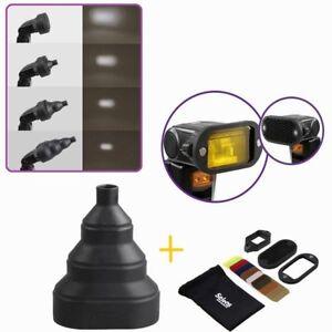 Selens Magnetic Snoot Conical Honeycomb Grid Spot Filter Kit for Flash Speedlite