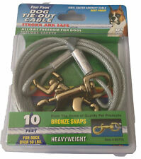 Four Paws Tie Out Heavyweight Cable 10 Foot, Rust Proof, Silver