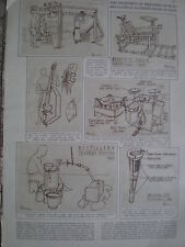 Gadgets made by allied prisoners of war against Japan 1946 old prints