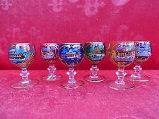 6 noble,antique verres__Verres de souvenir__coloré avec images__Rome__Italie
