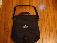 COMPUTER LAPTOP Bag Backpack Shoulder Tote Black Longaberger