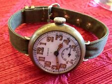 Trench watch BAND ONLY- NOS 1/2in USA Military 1 piece for fixed lugs CA1945