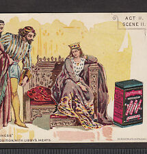 Queen Shakespeare Richard II Libby Canned Meat Soup Can Beef Tin Ad Trade Card