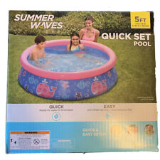 Summer Wave Quick Set Pool 5ft x 15in Swimming Pool Quick & Ez Setup Fast Ship🔥