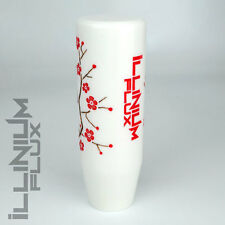 ILLINIUM FLUX RED PAINTED WHITE SAKURA BLOSSOM MANUAL SHIFT KNOB 10X1.25 K61