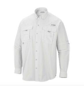 NEW COLUMBIA Men's PFG Bahama II Long Sleeve Fishing Shirt UPF 30 Vented