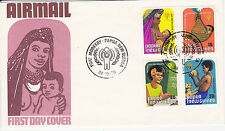 PAPUA NEW GUINEA FIRST DAY COVER 1979 MOTHER BABY EDUCATION  PLAY SCOTT #508-511
