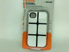 Incase Systm Chisel Flexible Hard Shell Protection Case for iPhone 4 4S White