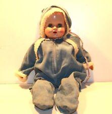 "VINTAGE 18"" BABY DOLL 1950s~VINYL W SLEEP EYES~Adorable Face Plastic Sleeping"